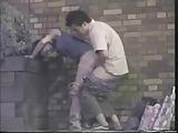 Amateur voyeur caught a couple fucking