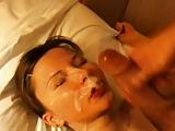Gorgeous blowjob facial treatment