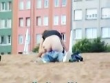 Drunk couple outdoor sex