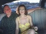 Mature couple fucking in taxi